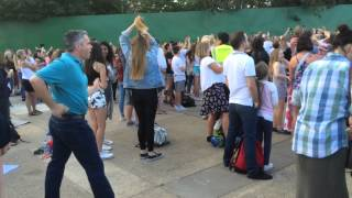 Dad nails classic dance moves at The Vamps gig at Thorpe Park at Island Beats