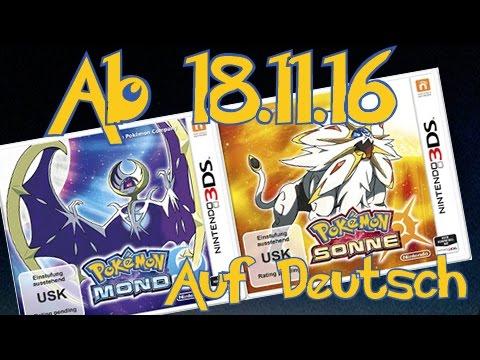 Pokémon Sonne / Mond: Am 18.11. auf deutsch bekommen! [LEGAL]