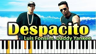 Luis Fonsi - Despacito (piano cover + ноты)