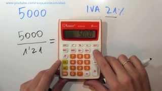 Cómo calcular el IVA incluido en una cantidad teniendo el total thumbnail