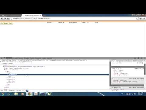 Create Dropdown Menu Bar Using Asp net with CSS for very beginners step by step