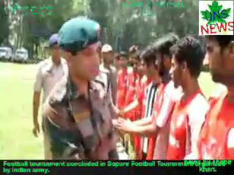Football tournament concluded in Sopore   Football Tournament organized by indian army......