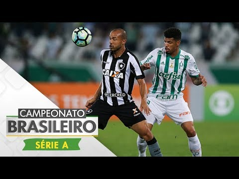 Melhores Momentos - Gols de Botafogo 1 x 2 Palmeiras - Campeonato Brasileiro (02/08/2017)