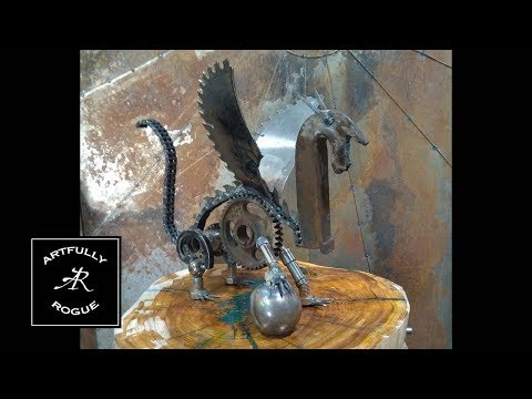 Scrap Dragon Metal Art
