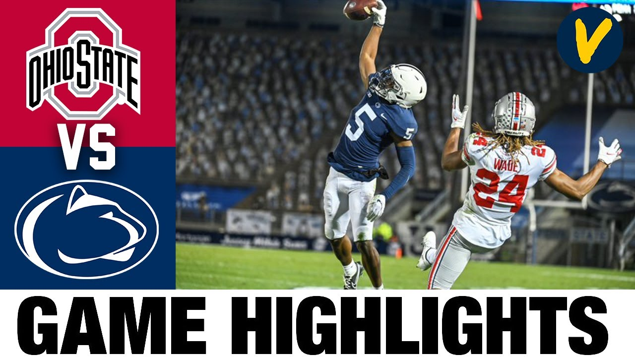 Penn State Vs Ohio State Highlights Week 9 2020 College Football Highlights Youtube