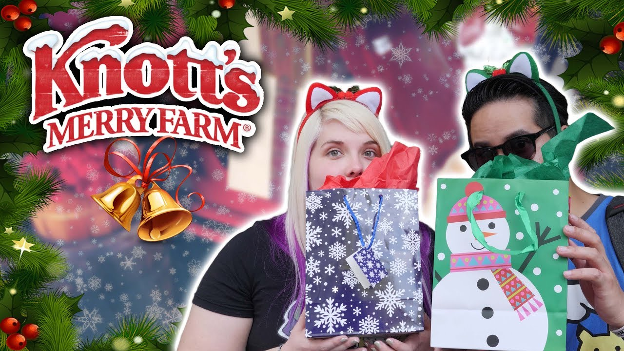 Christmas mystery bags and carnival games at Knott s Merry Farm