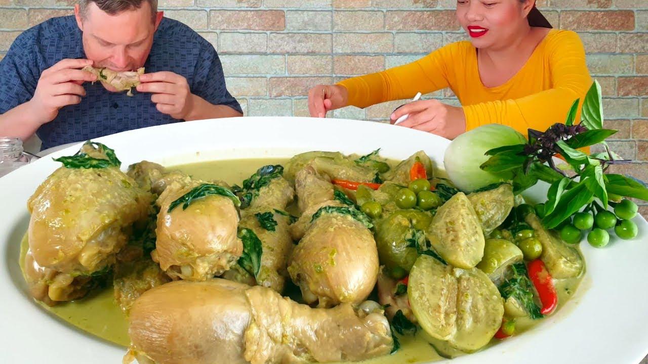 แกงเขียวหวานน่องไก่❗ พร้อมสูตรน้ำพริกแกงเขียวหวาน และ เทคนิคทำยังไงให้แกงสีเขียวดูน่ากิน