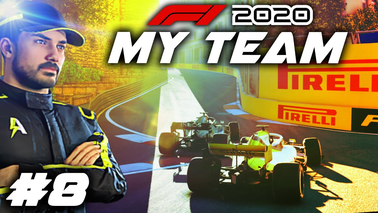 F1 2020 MY TEAM CAREER Part 8: SIDE-BY-SIDE AT BAKU CASTLE! Last Lap Overtakes, Big Sponsor Payouts!