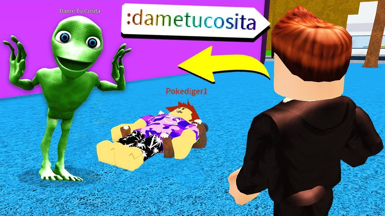 Making Dame Tu Cosita A Roblox Account Youtube I Found Dame Tu Cosita In Roblox Creepy W Poke Youtube