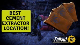 Fallout 76 Best Settlement Location To Extract Cement!