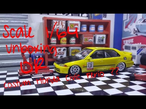 #3. Unboxing inno64 my Costum simple honda Civic ferio SiR EG9 Hongkong Edition 1/64 scale