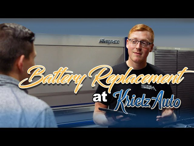 Battery Replacement At Krietz Auto