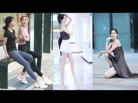 Tik Tok China #26 Pretty Girls Mejores Fashion Walking Style Street Dress Outfit.  抖音時尚網紅街拍合輯。