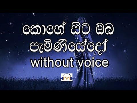 Kohe Sita Oba Paminiyedo Karaoke (without voice) කොහේ සිට ඔබ පැමිණියේදෝ
