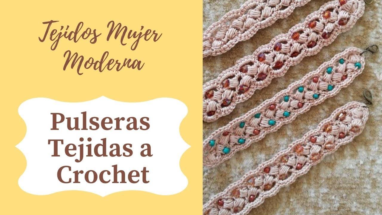 eac5f293aafd PULSERAS Tejidas a Crochet y con Bisuteria.
