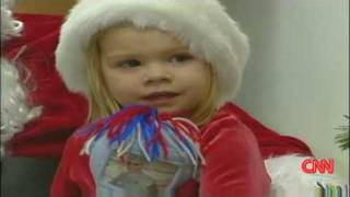 Little Girl Gets Christmas Wish - Daddy Home from Afghanistan