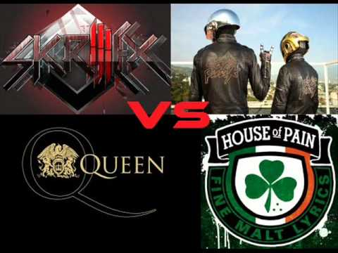 Skrillex vs Daft Punk vs Queen vs House Of Pain - Skrillex Rock (Loo & Placido vs DJ Hero Bootleg)