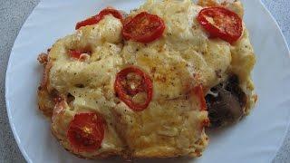 Мясная запеканка с шампиньонами/Очень вкусно и просто/Meat casserole with mushrooms