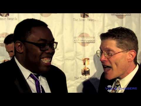 Bob Bergen voice of Porky Pig at the 41st Annual Annie Awards