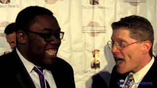 Bob Bergen (voice of Porky Pig) at the 41st Annual Annie Awards