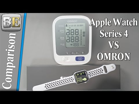 Apple Watch Series 4 Vs OMRON Blood Pressure Monitor For Heart Rate