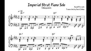 Imperial Strut Piano Solo | Yellowjackets