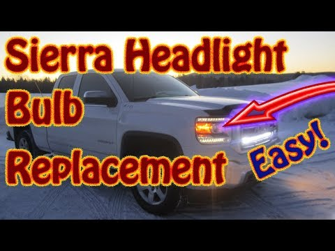 How to Replace Headlight Bulbs On a GMC Sierra and Chevy Silverado