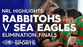 NRL Highlights: South Sydney Rabbitohs v Manly Sea Eagles - Elimination Final | NRL on Nine