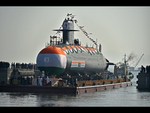 INS Khanderi, India's second indigenous Scorpene submarine, launched