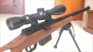 Bbs toy sniper rifle with red dot scope