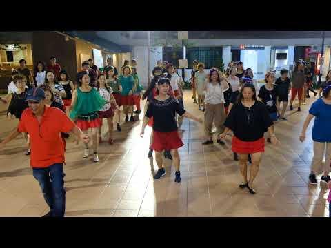 Khoo Khat—Christmas Line Dance Party 9 Dec 2017 @ Tampines Changkat Zone 4 RC