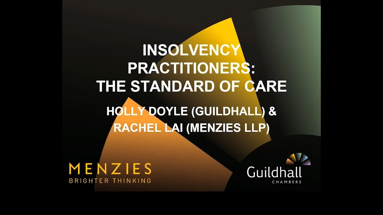Download Insolvency Webinar - Insolvency Practitioners: the Standard of Care