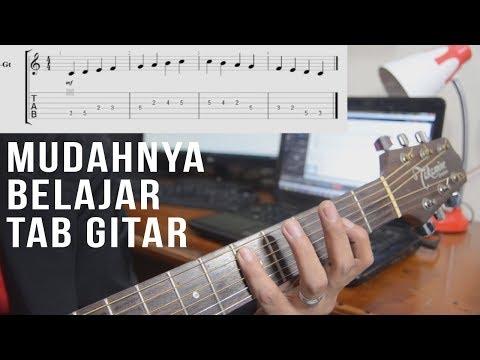 Cara Membaca Tabulasi Gitar Untuk Pemula Bagian 1