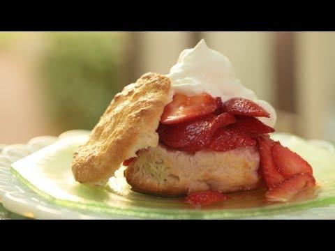 Strawberry Shortcake w/ Homemade Biscuits Recipe || KIN EATS