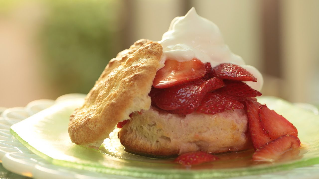 Strawberry Shortcake w/ Homemade Biscuits Recipe || KIN EATS
