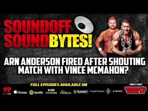 Arn Anderson FIRED After Shouting Match With Vince McMahon?
