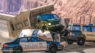 EPIC POLICE CHASES #11 - BeamNG Drive Crashes