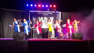 group dance by girls 14 18 batch at nit nagaland s freshers 2015 nit nagaland