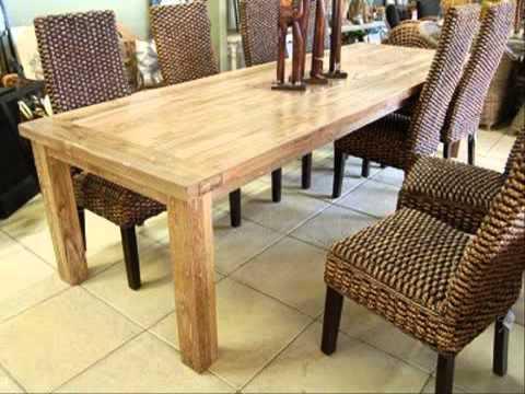 เก้าอี้ไม้สัก โต๊ะกินข้าวไม้สัก