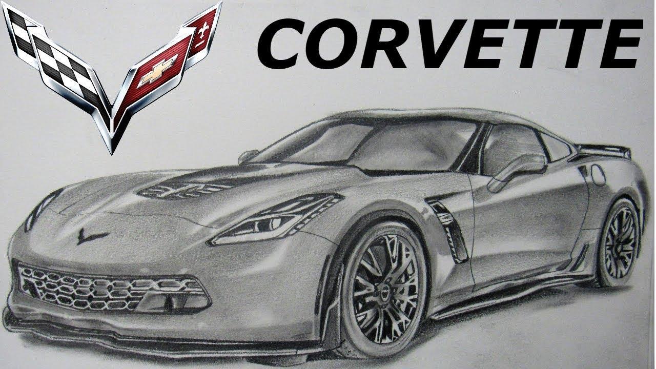 Dibujando El Corvette Z06 Drawing The Corvette Z06 - YouTube