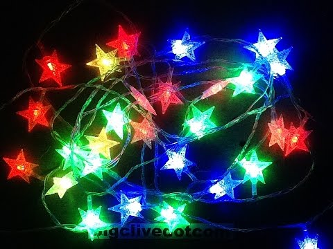 simple chinese mains led flashing light string - Blinking Led Christmas Lights