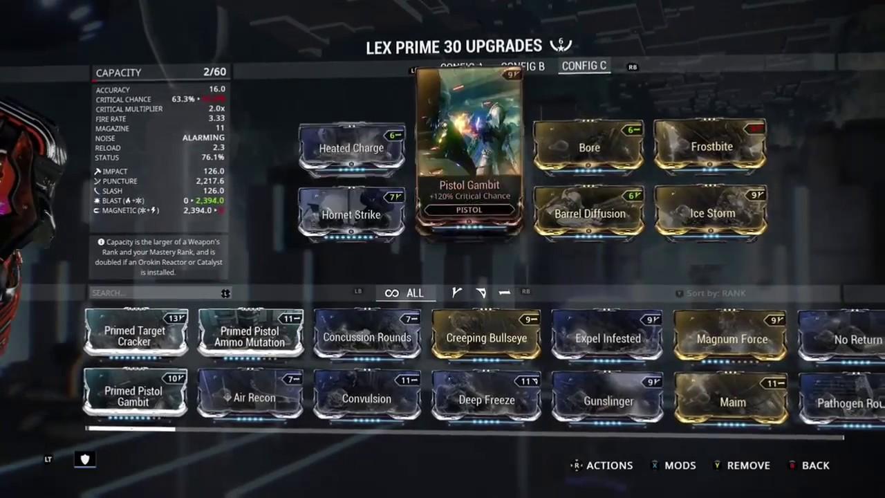 Build Lex Prime Warframe