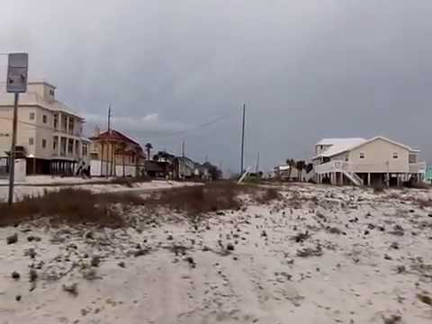 Drive By Tour Of Navarre Beach Florida Properties Cloudy Day