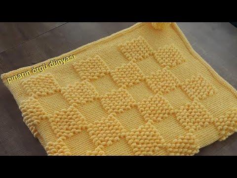 Kolay Battaniye Yapımı / Easy Crochet Block Blanket Tutorial (Eng. Subt.)