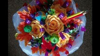 Подарок для учителя - букет из конфет своими руками.\ Teacher Gift.