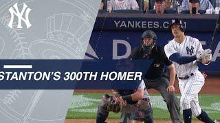 Giancarlo Stanton belts his 300th home run