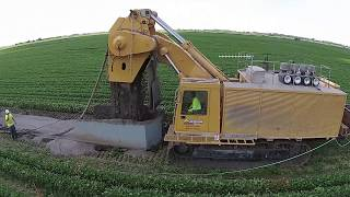 DeWind One Pass Trenching   MT2000 Trencher Installing Soil Bentonite Cutoff Wall