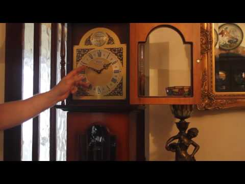 Vintage Longcase 'Tempus Fugit' Clock with Westminster Chimes