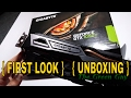 Nvidia Gigabyte GTX 1050 ti Windforce OC 4gb First Look /Unboxing
