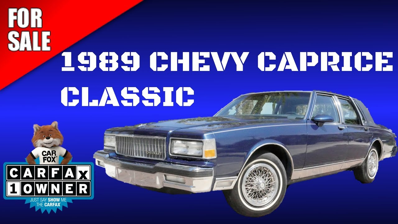 1989 CHEVY CAPRICE FOR SALE 35k Miles 1 Owner Clean Carfax